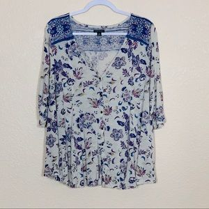 LUCKY BRAND | Floral Tunic Top